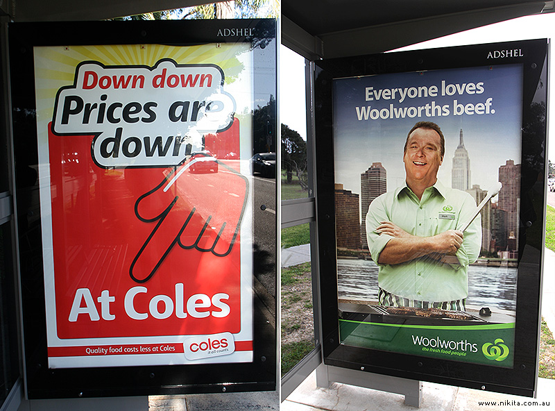 Coles and Woolworths